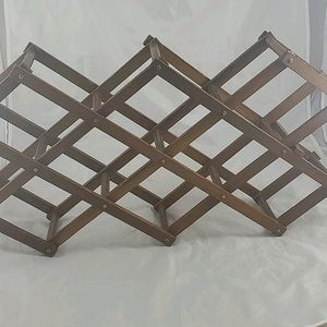 Wooden Collapsible Vintage Wine Rack